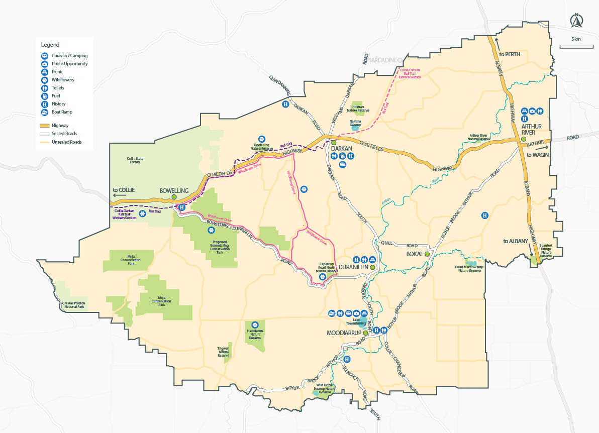 Shire of West Arthur Map