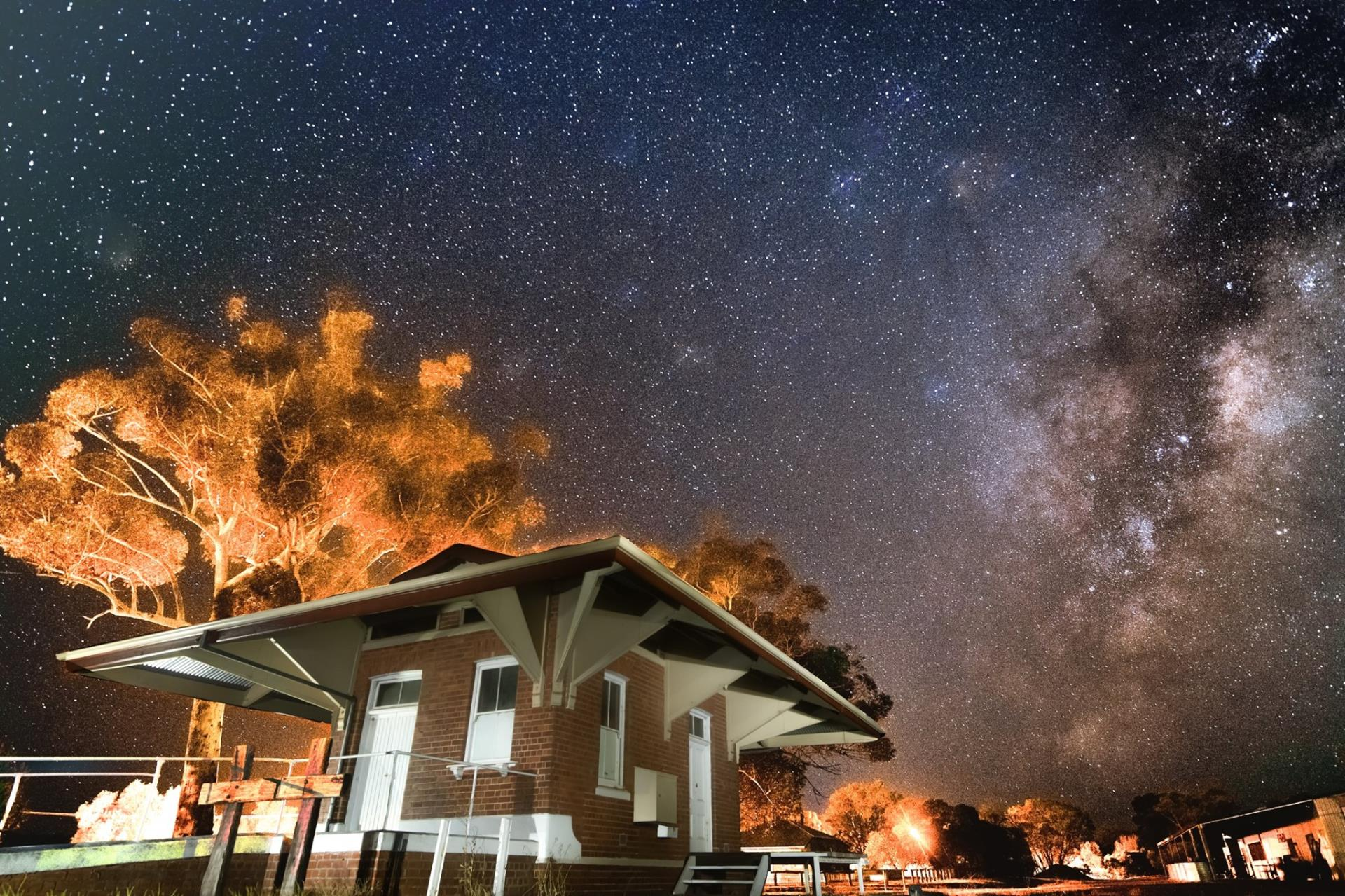 Night Sky from old train station in Darkan